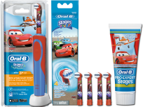 Oral-B Stages Power Cars Set mit 4 Aufsteckbürsten (75 ml)