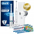 Oral-B Sparpack Genius 10100S White + 3x Oral-B Zahnpasta, 75ml