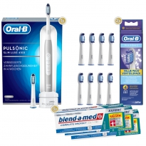 1-2-3 Oral-B Sparpack Pulsonic Slim Luxe 4100 Platinum (3x75 ml)