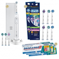 1-2-3 Oral-B Sparpack Genius 10100S White (3x75 ml)