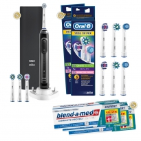 1-2-3 Oral-B Sparpack Genius 10100S Black (3x75 ml)