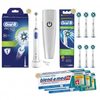 1-2-3 Oral-B Sparpack PRO 600 Cross Action (3x75 ml)