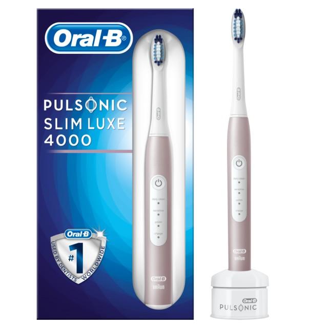 Braun Oral-B Pulsonic Slim Luxe 4000 Rosegold Schallzahnbürste 2