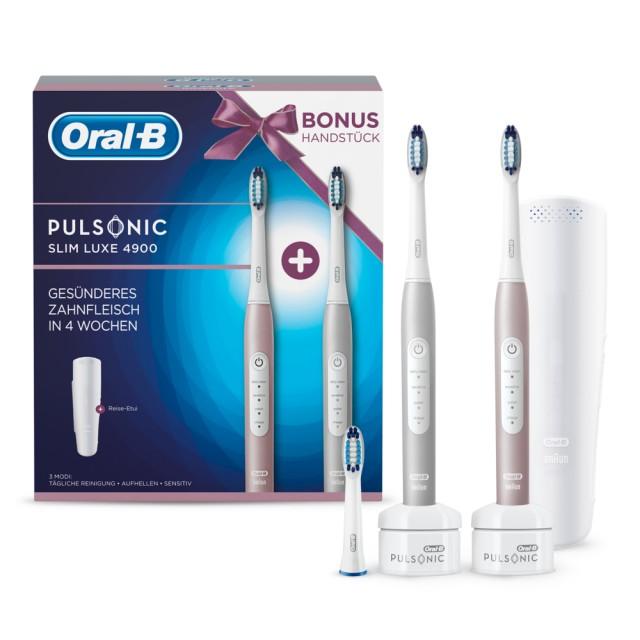 Oral-B Pulsonic Slim Luxe 4900 mit 2. Zahnbürste