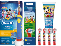 Oral-B Stages Power Mickey Set mit 4 Aufsteckbürsten (75 ml)