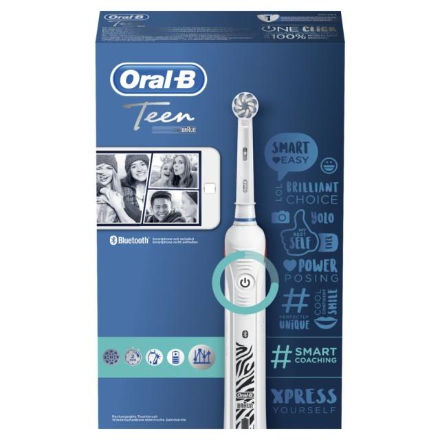 Braun Oral-B Teen White Elektrozahnbürste ideal bei festsitzenden Zahnspangen